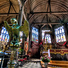Inside Saint-Catherine's Church<br /> This is the two naves inside of Saint-Catherine's Church, in the beautiful town of Honfleur, France. It is one of the few wooden churches left.