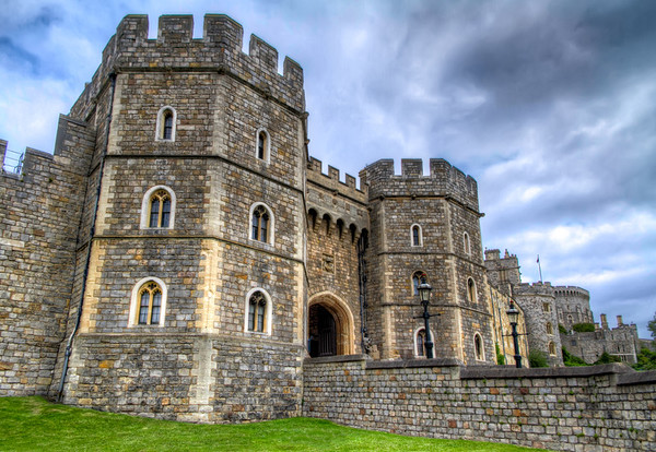 The Henry VIII Gateway at Windsor Castle<br /> Though the Henry VIII gateway in the Lower Ward entrance of Windsor Castle isn't as large as the main entrance to the castle, it's still quite impressive.