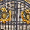 Arms of the Dominion<br /> The Royal Coat of Arms, also know as the Arms of the Dominion, adorn the front gate of Buckingham Palace.