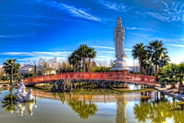 Quan Âm Sculpture<br /> At the Vietnamese Buddhist temple in southwest Houston, you can find this 72-ft sculpture of Quan Âm the female Buddhist deity of compassion and mercy.