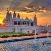 Sunset Behind the Mandir<br /> This sunset behind the Shri Swaminarayan Mandir in Houston, TX is my one year anniversary post.