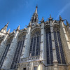 La Sainte-Chapelle<br /> Like many Gothic designs, La Sainte-Chapelle has many gargoyles high atop the church. Gargoyles were mainly used as water spouts projecting from roofs at parapet level and were a common device used to shed rainwater from buildings until the early eighteenth century.
