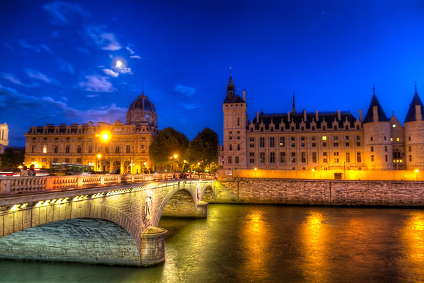First NIght in Paris<br /> When we came up to street level from the tube, our first view of old Paris was the Tribunal of Commerce of Paris to the left and the Supreme Court of France to the right.