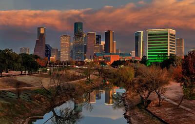 Houston West Side at Sunset