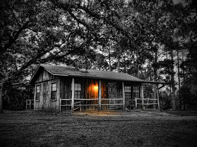 Find out more at http://gallery.timstanleyphotography.com/featured/old-country-cabin-glow-tim-stanley.html