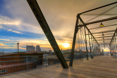 Hays Street Bridge at Sunset