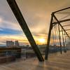 Hays Street Bridge at Sunset