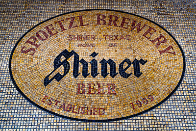 The Spoetzl Brewery mozaic
