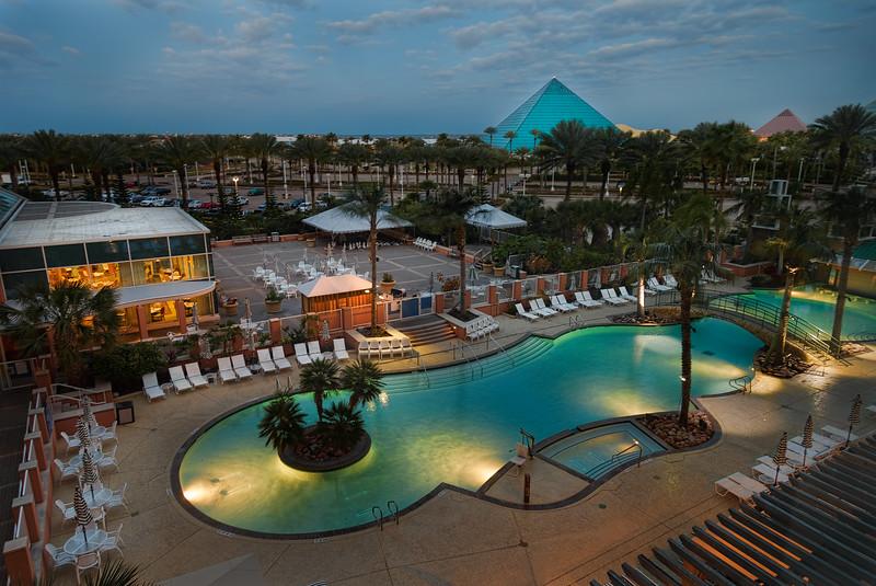 Moody Gardens Hotel Poolside at Dawn