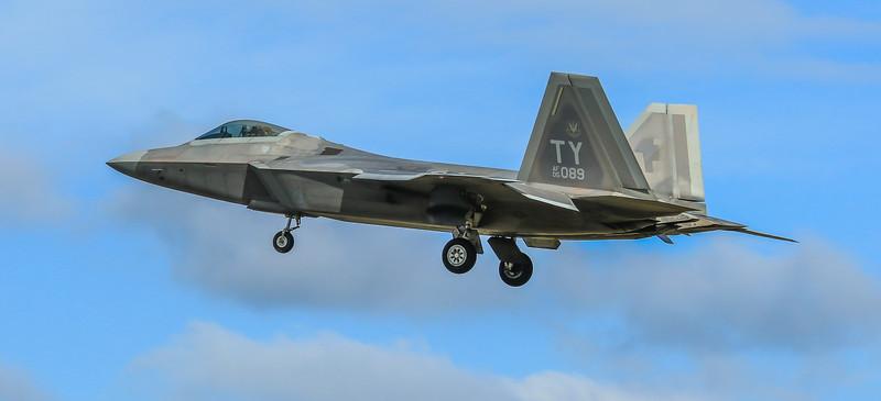 F22 Raptor - 325FW - 95FS - TY AF 05-4089 - RAF Lakenheath (April 2016)