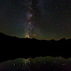 The Milky Way as seen from Sprague Lake  in Rocky Mountain National Park.