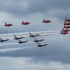 Red Arrows & Thunderbirds Fly Past - RIAT - RAF Fairford (July 2017)