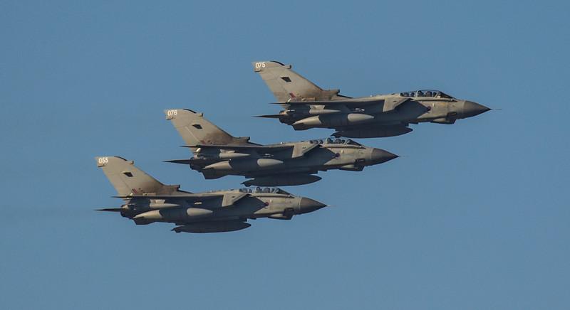 Tornado - RAF - 3 Ship - ZA587 055 - ZA613 075 - ZA614 076  - RAF Marham (February 2019)