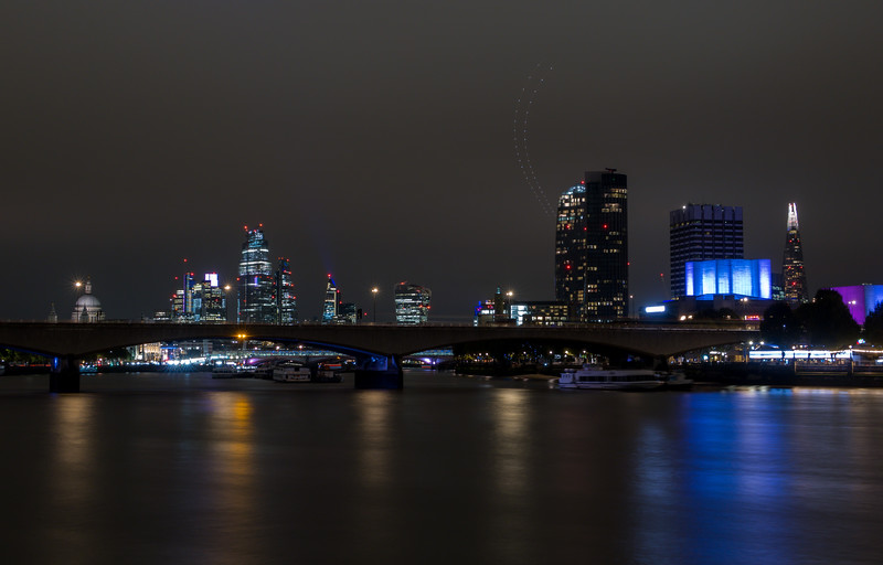 Waterloo Bridge from Embankment - River Thames - London (October 2019)