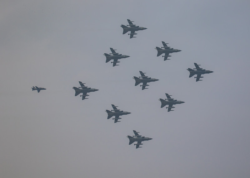 Tornado - RAF - 9 Ship Farewell Display - RAF Marham (February 2019)