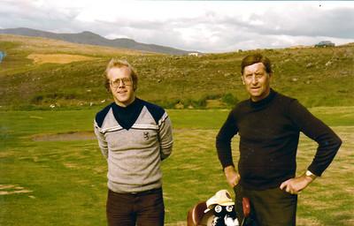 Gunnar Þórðarson GA og Marteinn Guðjónsson GV. Úr safni: Borgarskjalasafn