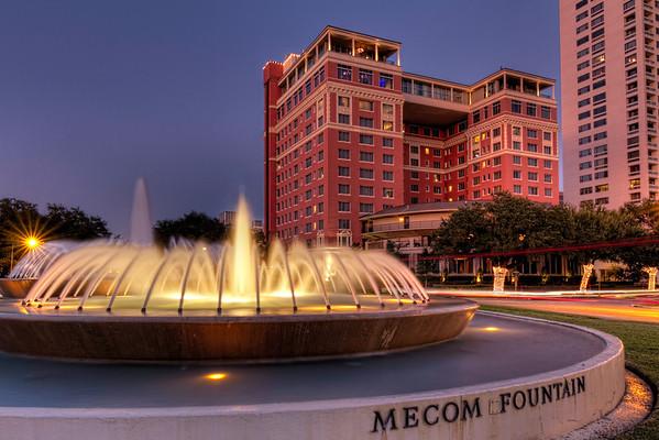 Mecom Fountain and the Hotel ZaZa