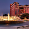 Mecom Fountain and the Hotel ZaZa