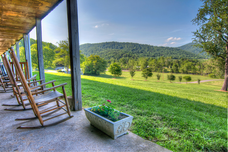 This is another view from Grave's Mountain Lodge in Virginia. Photo by Tim Stanley Photography.