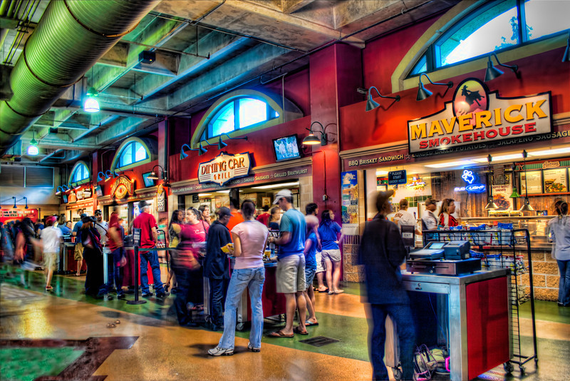 This is a handheld, three exposure HDR image of the crowds at Minute Maid Park in Houston. Photo by Tim Stanley Photography.