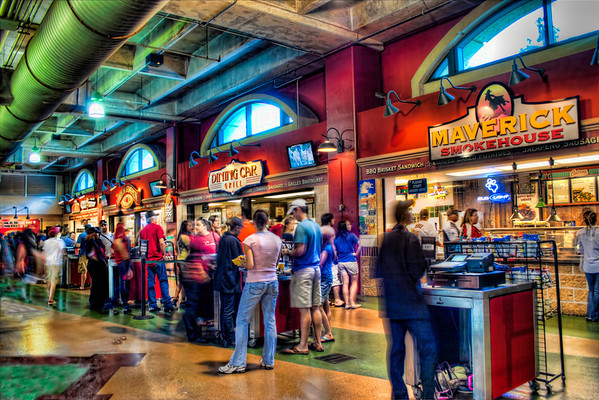 Concessions<br /> This is a handheld, three exposure HDR image of the crowds at Minute Maid Park in Houston.