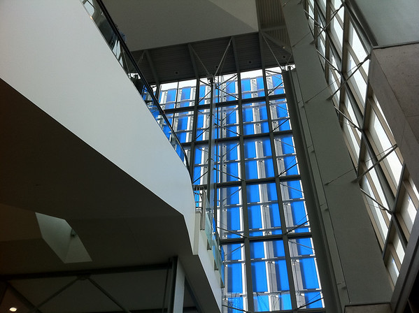 Interesting lines in the Austin Convention Center. Austin, TX.  <br /> iPhone 2 image HDR.