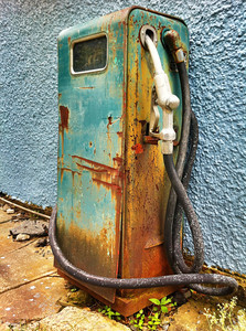 The Old Colorful Pump This old gas pump was on the side of a small craft store we found as we crossed over Skyline Drive.