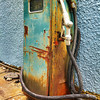 The Old Colorful Pump<br /> This old gas pump was on the side of a small craft store we found as we crossed over Skyline Drive.