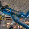 Vought F4U-1D Corsair<br /> WWII had the first airplanes that people really feared, both in the air and from the ground. This F4U-1D Corsair is on display at the Steven F. Udvar-Hazy Center.