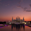 Temple Sunset<br /> This is another view of the Shri Swaminarayan Mandir.