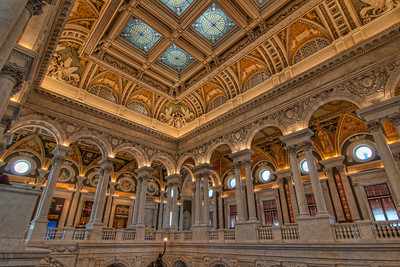 Library of Congress Washington D.C. has so many things to see and visit. One of your top destinations should be the Library of Congress. Across the street from the Capital, it is one of the most beautiful buildings there.