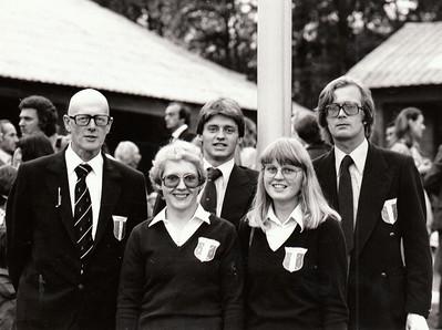 Fv. Ólafur Tómasson, Kristín Þorvaldsdóttir, Hannes Eyvindsson, Jóhanna Ingólfsdóttir, Björgvin Þorsteinsson.