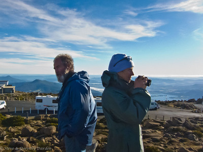 Guy and Karen at the top of Mt. Wellington