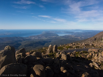 Bruny Island from the top of Mt. WEllington
