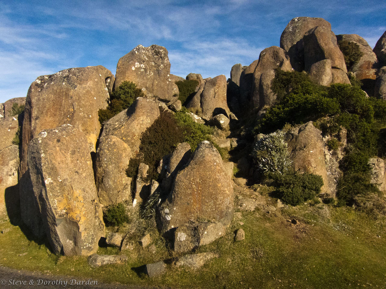 Dolorite rocks at the top of Mt Wellington