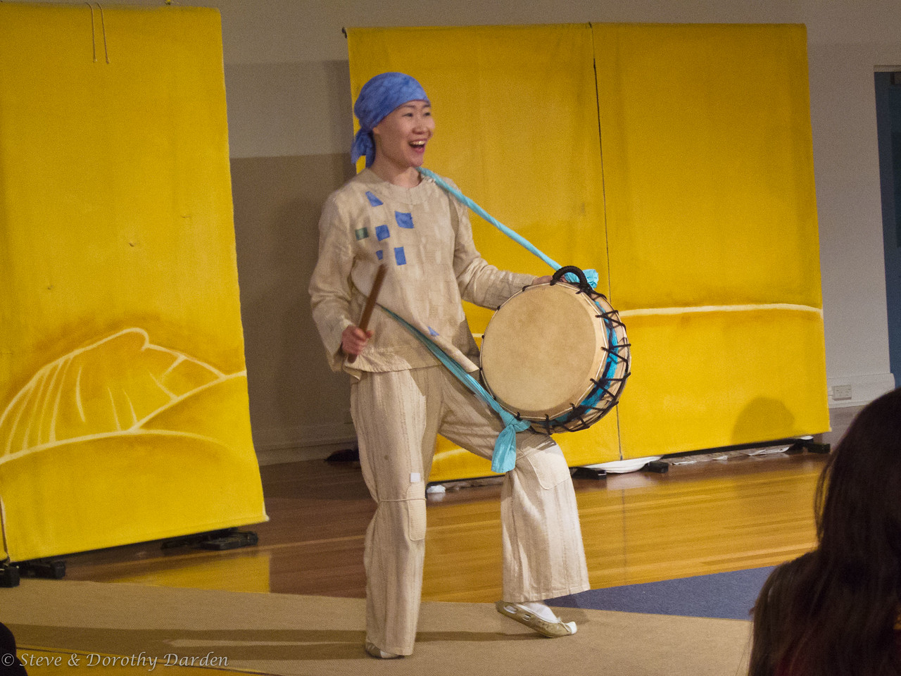 Traditional Korean musical instruments were played.