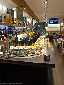 Tapas are displayed for your choosing.