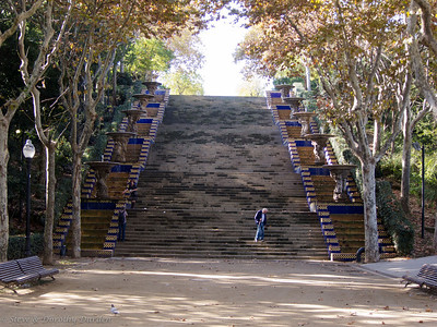 Stairs in the gardens