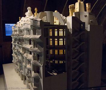 Casa Mila model, including example light well