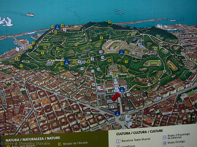Map of Montjuic