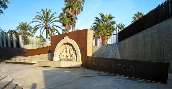 Carmen Amaya Fountain near the beach.