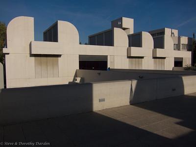 On the roof top terrace of Fundacio' Joan Miro