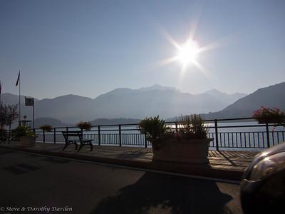 We drove along the shore of Lake Como in the morning, destination Gaoile.
