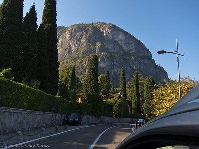 View from the road along Lake Como