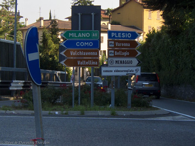 This was an important intersection for us, pointing to Menaggio.