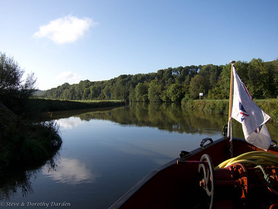After exiting the locke at Corre we left the river in the regional direction of Nancy, canal of the North-East, and enter the Canal des Vosges.
