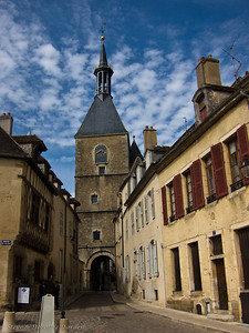 Clock tower in Avallon