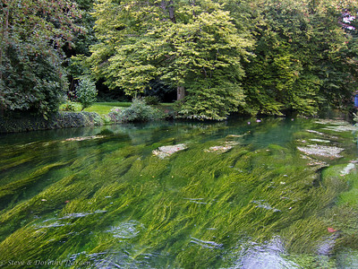 Crystal clear River Beze at the Lavoir