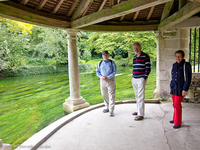 Steve. Adrian and Josephine at the Lavoir in Beze