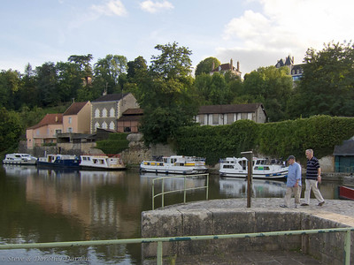 Steve and Adrian at the Canal  on the Yonne River in Clamecy